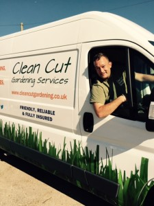 Clean Cut Testimonial van